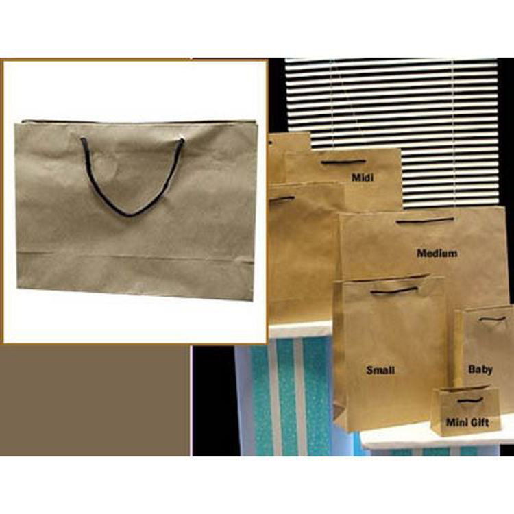 Picture of Deluxe Brown Kraft - Black Rope Handles - Small Btq