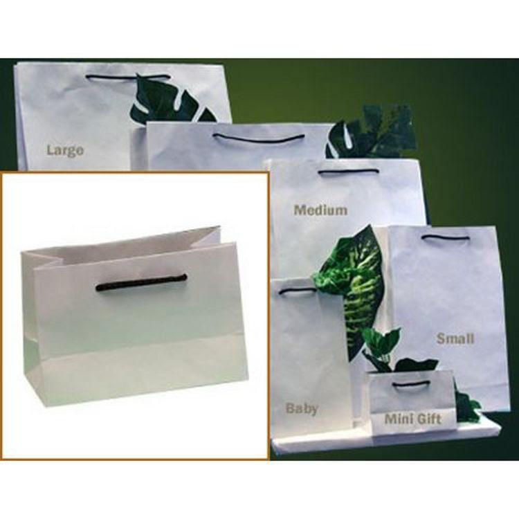 Picture of Deluxe White Kraft - Black Rope Handles - Minigift