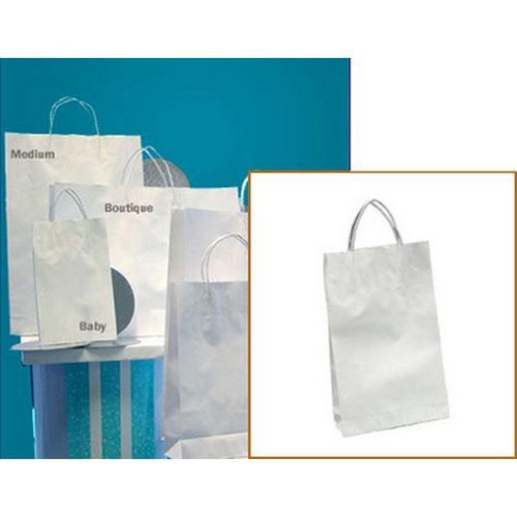 Picture of White Kraft - Paper Loop Handles - Baby