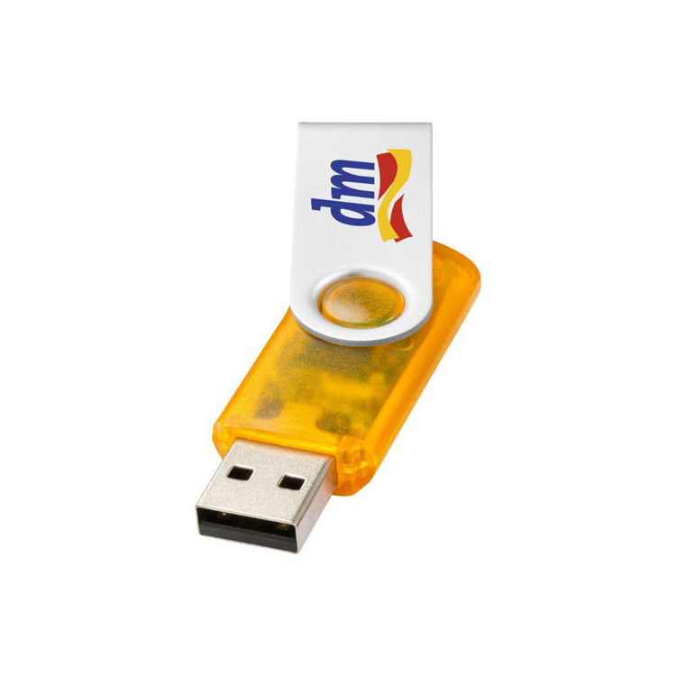 Picture of Rotate USB Flash Drive - Transparent